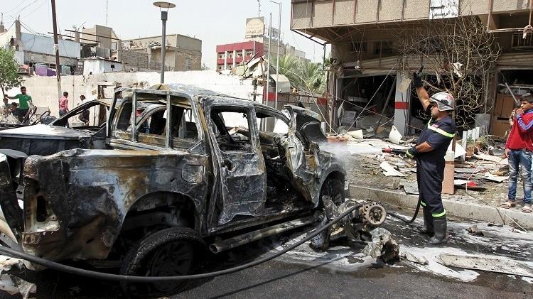 19 قتيلا بانفجار سيارتين مفخختين في بغداد