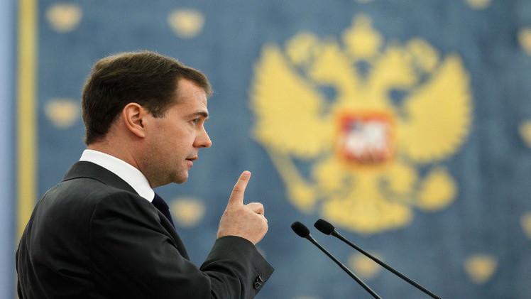 مدفيديف يرى فرصة لتسوية الأزمة الأوكرانية في المستقبل المنظور
