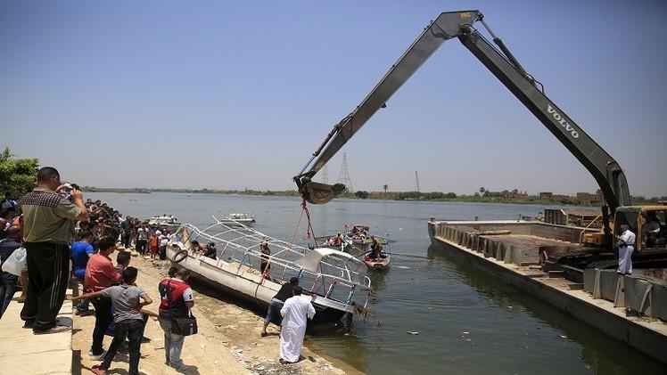 مصر.. ارتفاع عدد ضحايا غرق المركب في النيل إلى 29