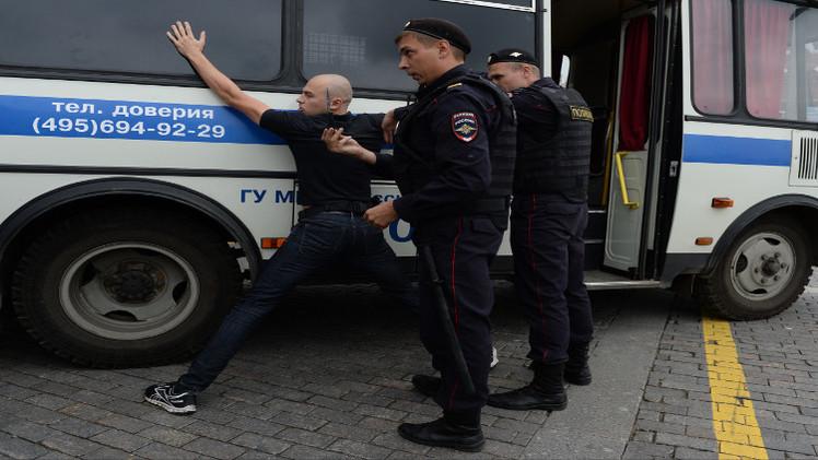 توقيف 20 شخصا في ضواحي موسكو للاشتباه بضلوعهم في نشاطات متطرفة
