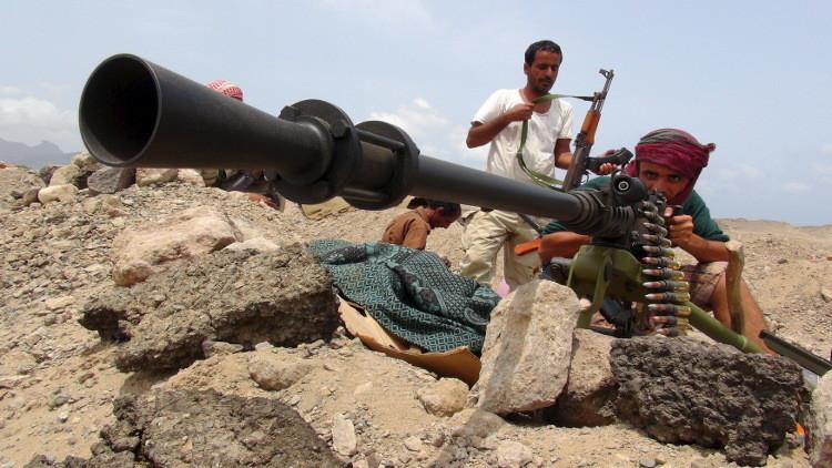 حوثيون مرابطون قرب عدن - صورة من الأرشيف