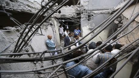 مخلفات القصف على صنعاء