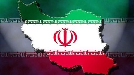 خارطة وعلم ايران