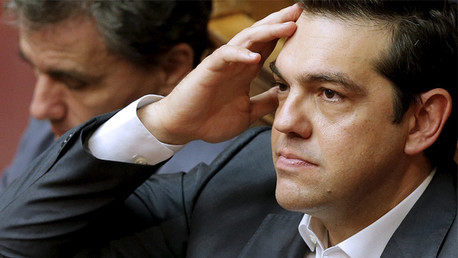 رئيس الوزراء اليوناني ألكسيس تسيبراس يشارك في جلسة البرلمان اليوناني 16 يوليو/تموز 2015