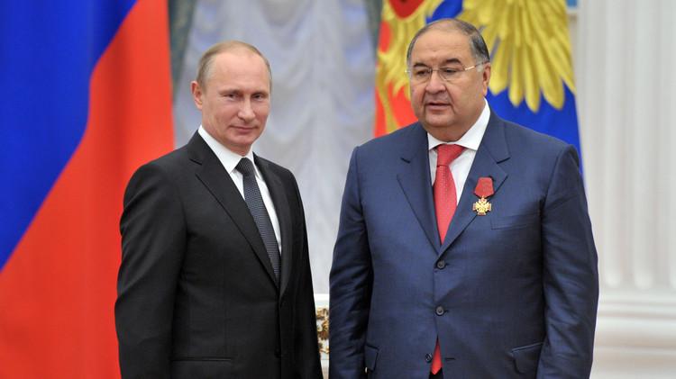 الملياردير عثمانوف يتبرع بمليار روبل للاتحاد الروسي لكرة القدم
