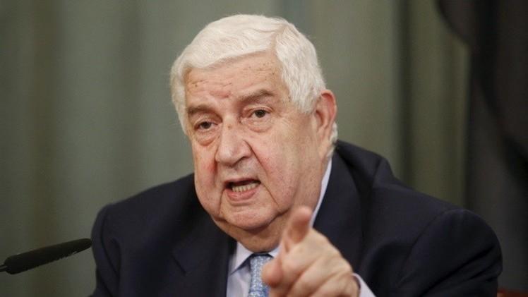 المعلم: أي عملية أمريكية في سوريا بدون التنسيق معنا انتهاك لسيادتنا