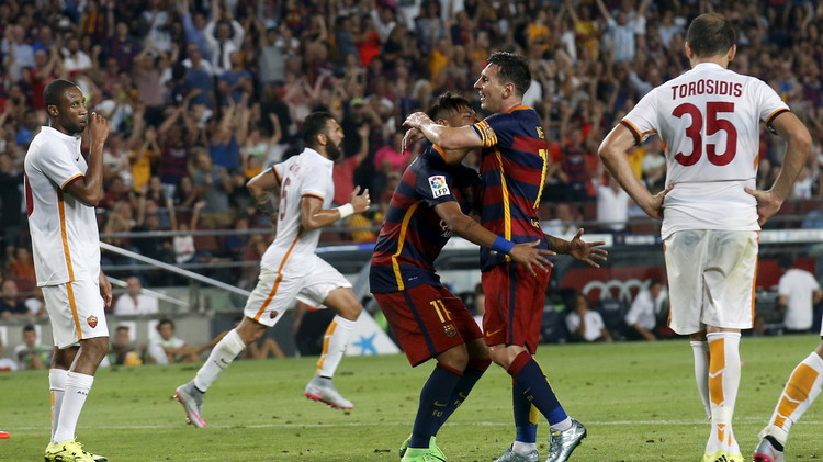 برشلونة يروض ذئاب روما ويحرز كأس غامبر .. (فيديو)