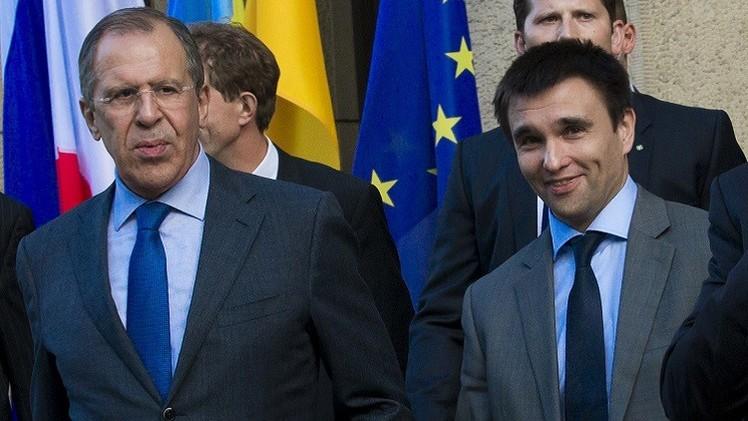 لافروف يدعو إلى حوار مباشر بين كييف وجمهوريتي دونيتسك ولوغانسك