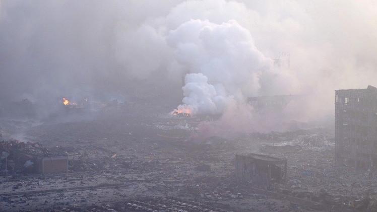 ارتفاع حصيلة ضحايا الانفجار الضخم شمال الصين إلى 85 قتيلا (فيديو)