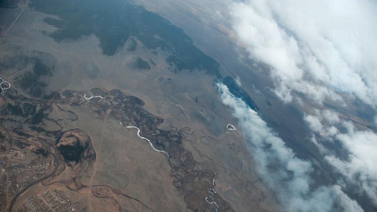 حرائق الغابات تمتد على مساحة 142 ألف هكتار في سيبيريا