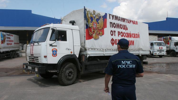 القافلة الإنسانية الروسية الـ35 تتوجه إلى دونيتسك ولوغانسك