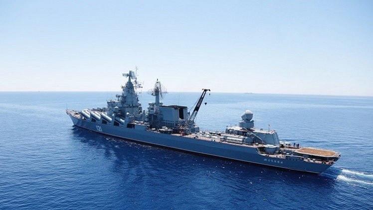 سفن حربية روسية تجري تدريبات في البحر الأبيض المتوسط