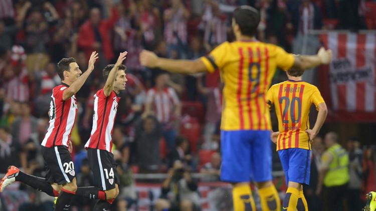فيديو .. بيلباو يتقدم على برشلونة بهدف عالمي