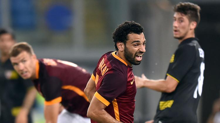 المصري صلاح يحرز باكورة أهدافه مع روما في مباراة مجنونة (فيديو)