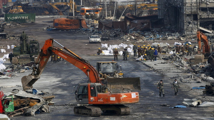 الصين.. البدء بتنظيف مئات الأطنان من مواد شديدة السمية من موقع الانفجارات