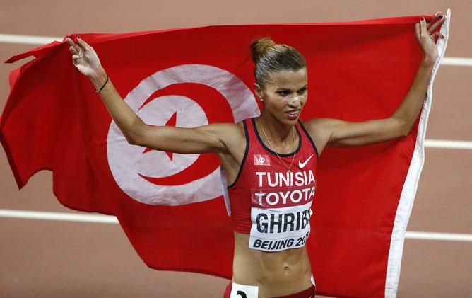 التونسية حبيبة الغريبي تحرز فضية سباق 3 آلاف متر موانع
