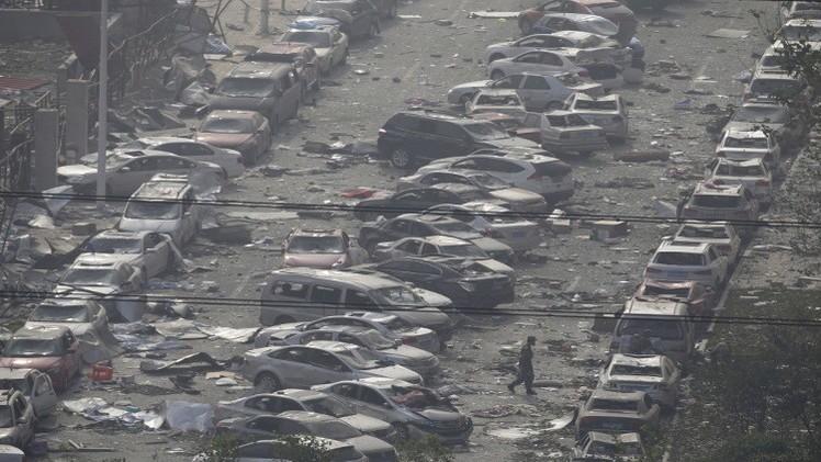 الصين تتكبد خسائر بـ 11 مليار دولار نتيجة لانفجارات تيانجين