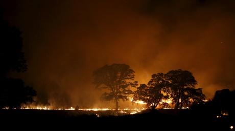 صورة لحريق سابق