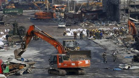 صورة من مكان الانفجارات