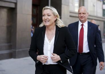 مارين لوبان، رئيسة حزب الجبهة الوطنية الفرنسي المعارض