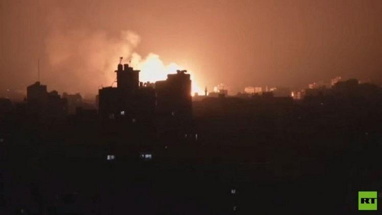 إسرائيل تقصف موقعا عسكريا لحماس بقطاع غزة