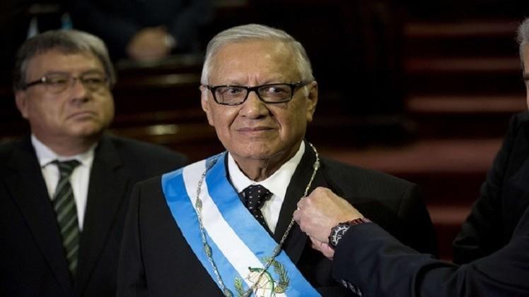 مالدونادو رئيسا مؤقتا لغواتيمالا