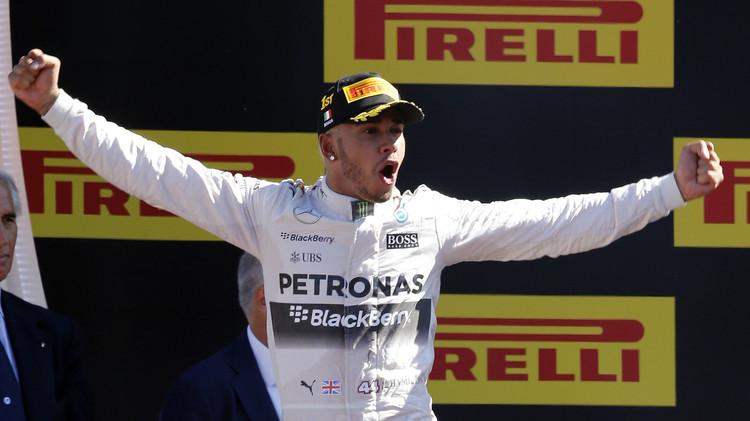 هاميلتون يتوج بسباق جائزة إيطاليا للفورمولا وان