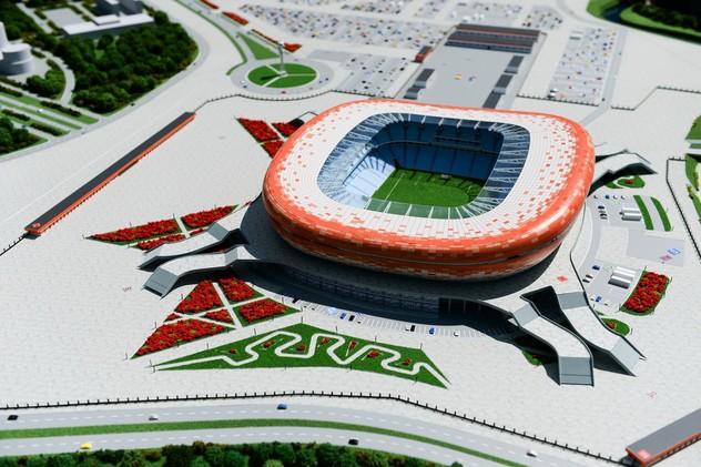 إتمام 50% من بناء ملعب أرينا موردوفيا أحد ملاعب مونديال روسيا