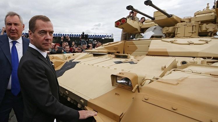 رئيس الوزراء الروسي دميتري مدفيديف في معرض نيجني تاغيل