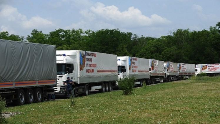 قافلة مساعدات إنسانية روسية جديدة إلى المتضررين من الصراع شرق أوكرانيا