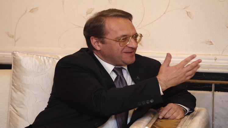 بوغدانوف يبحث مع جميل الأزمة السورية