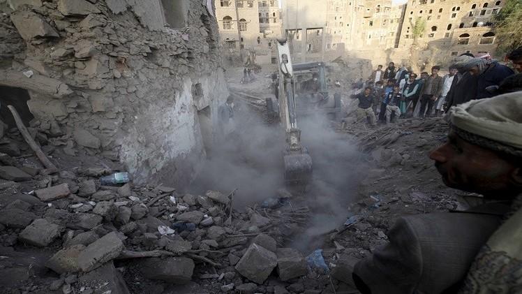 11 قتيلا في قصف للتحالف على إدارة الأمن في القاعدة وسط اليمن
