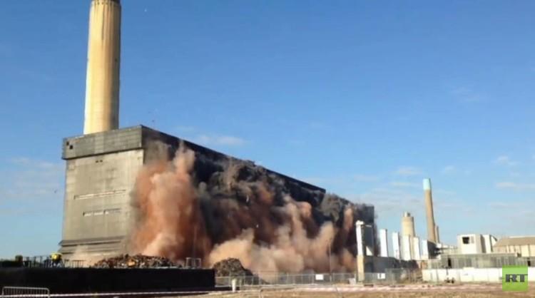 بالفيديو من بريطانيا.. تفجير جديد في محطة كهرباء ديدكوت