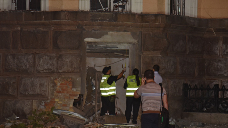 تفجير عند مبنى إدارة أمن الدولة في أوديسا بأوكرانيا
