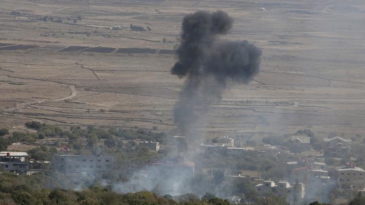إسرائيل تقصف الجيش السوري في الجولان