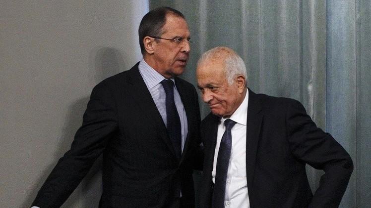 لافروف والعربي يبحثان الوضع في سوريا واستئناف الحوار الفلسطيني الإسرائيلي