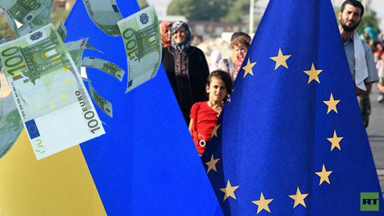 أزمة اللاجئين في أوروبا تحول دون حصول كييف على كامل المساعدات الموعودة