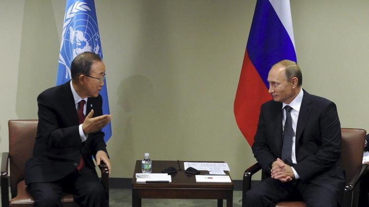 بوتين يأمل بنقاط التقاء مع الشركاء تؤسس لأرضية مشتركة ضد الإرهاب