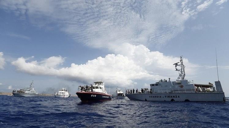 خفر السواحل الإيطالي ينقذ أكثر من 1000 مهاجر لا شرعي في يوم واحد