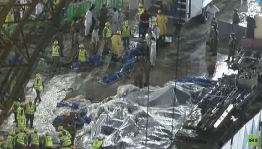 مصرع 107 أشخاص بسقوط رافعة على المصلين في مكة