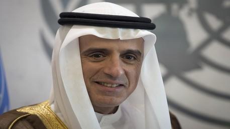 وزير خارجية المملكة العربية السعودية عادل أحمد الجبير في مقر الأمم المتحدة في منهاتن، نيويورك 26 سبتمبر 2015