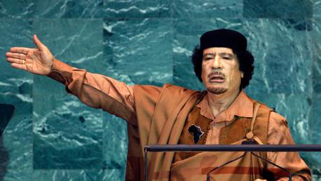 معمر القذافي في الجمعية العامة في 2009