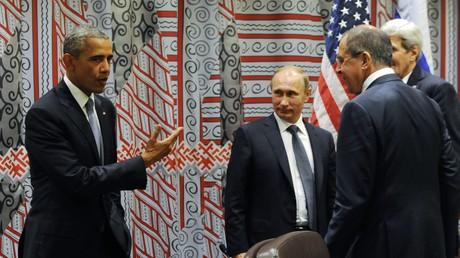 لقاء فلاديمير بوتين مع باراك أوباما
