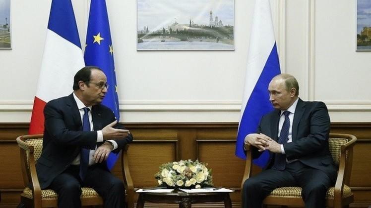 سوريا على أجندة لقاء بوتين وهولاند في باريس