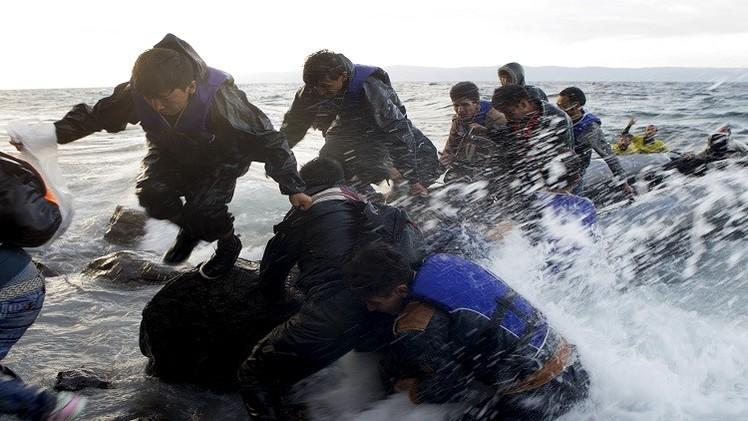 الطقس يعيق توافد اللاجئين على اليونان