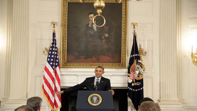 أوباما يعلن عن استعداده للعمل مع بوتين من أجل اتفاق يقضي بانتقال سياسي في سوريا