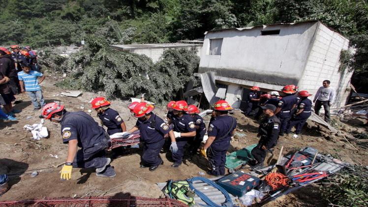 غواتيمالا.. 48 قتيلا و350 مفقودا بانزلاق أرضي