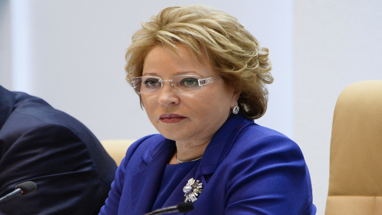 وفد من مجلس الاتحاد الروسي برئاسة ماتفيينكو يتوجه إلى الأردن