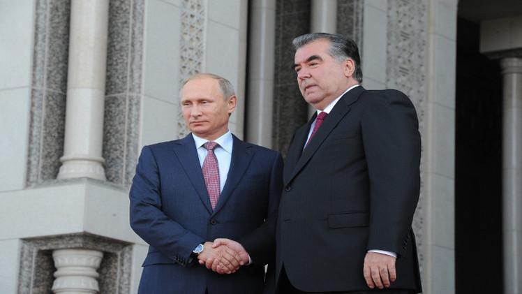 بوتين يعرب لرحمون عن قلق موسكو من الوضع في آسيا الوسطى