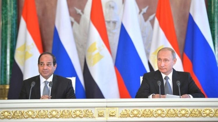 بوتين والسيسي يبحثان تسوية أزمات المنطقة ومكافحة الإرهاب وتعزيز التعاون